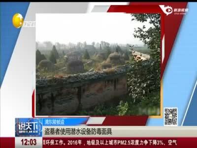 康熙妃子陵墓遭盗挖 盗墓者使用潜水泵等工具