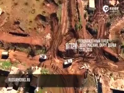 无人机航拍战火中的叙利亚:残墙断壁 满目疮痍