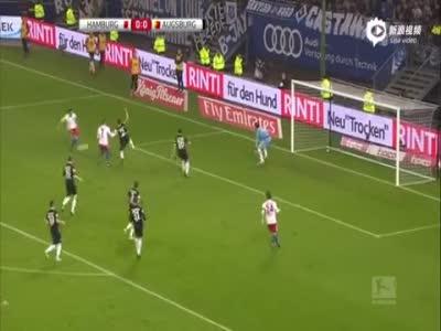 科斯蒂奇下半场破门建功 汉堡1-0击败奥格斯堡
