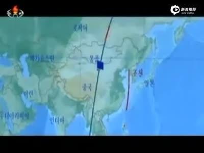 朝鲜中央台公布光明星卫星发射全程视频