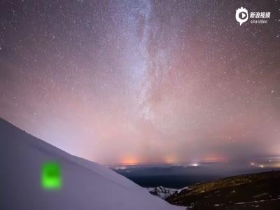 双子座流星雨来临 长白山夜空璀璨美到窒息