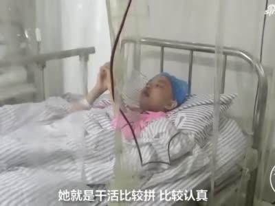 女儿患重病 80后母亲足疗店洗脚赚钱为女保命