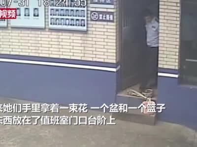 """#高中生给民警偷送冰粉# 留纸条称""""盆明天来拿"""""""