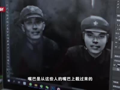 """为老人追忆似水年华,100年前家庭老照片不再斑驳,上海奉贤有群""""光阴魔术师"""""""