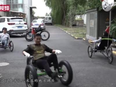 上海一企业造躺着骑的自行车 售价最高28000元