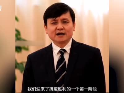 国庆首日,张文宏隔空喊话湖北人民送祝福