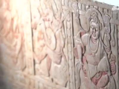 河南发现隋代汉白玉石棺床墓