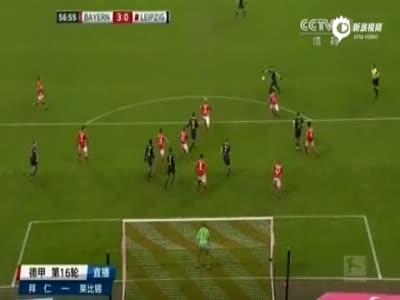 拜仁大战莱比锡获半程冠军