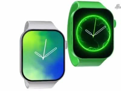 Apple Watch Series 7 渲染:硬朗边框很好看_1626249371370